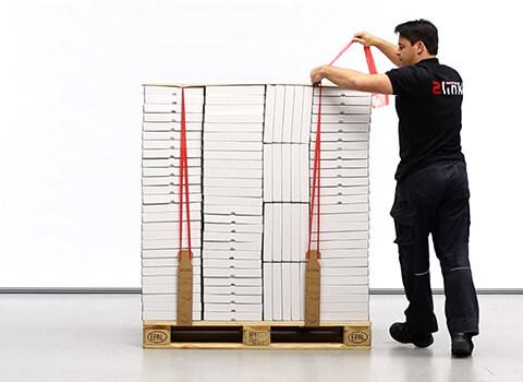 2Link for vertical pallet securing